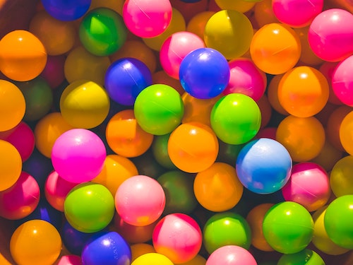 Pile of colorful balls